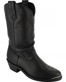 Shyanne Women's Black Slouch Cowgirl Boots - Medium Toe