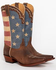 Shyanne Women's American Flag Cowgirl Boots - Snip Toe