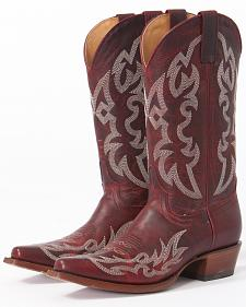 Shyanne Women's Damiano Red Cowgirl Boots - Snip Toe