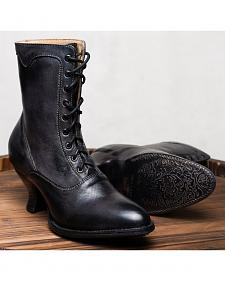 Oak Tree Farms Eleanor Black Boots - Medium Toe
