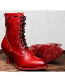 Oak Tree Farms Eleanor Red Boots - Medium Toe