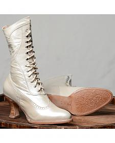 Oak Tree Farms Ivory Jasmine Pearl Boots - Medium Toe