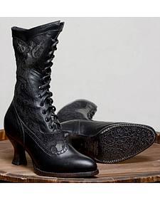 Oak Tree Farms Jennie Black Boots - Pointed Toe