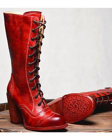 Oak Tree Farm Ariana Red Boots - Round Toe