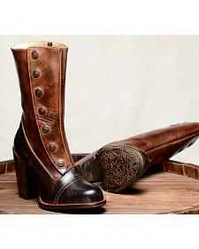 Oak Tree Farms Amelia Black Teak Boots - Round Toe