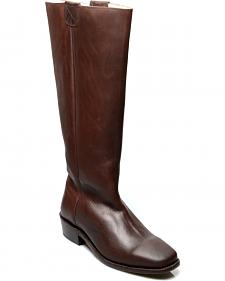 Oak Tree Farms Women's Brown Pale Rider Pull on Boots