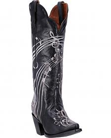 Dan Post Women's Black Treble Boot - Snip Toe