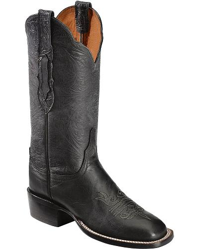 Lucchese Handcrafted 1883 Hand Tooled Mad Dog Goat Cowgirl Boots Square Toe