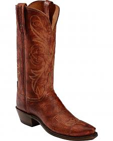 Lucchese Handcrafted 1883 Cognac Arizona Calf Cowgirl Boots - Snip Toe