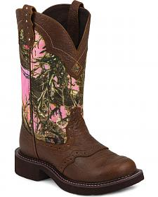 Justin Gypsy Women's Pink Camo Cowgirl Boots - Round Toe