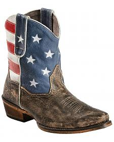 Roper Americana Shorty Boots - Snip Toe