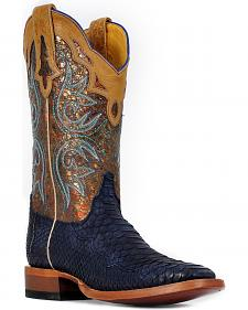 Cinch� Women's Suede Python Cowgirl Boots - Square Toe