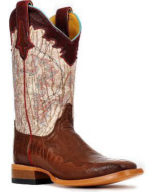 Cinch Womens Ostrich Leg Cowgirl Boots - Square Toe