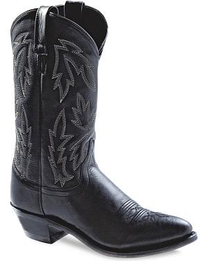 Old West Womens Polanil Western Cowboy Boots - Round Toe