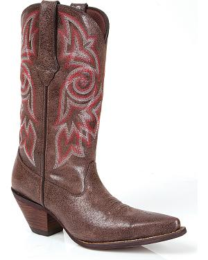 Durango Womens Crush Crackle Cowgirl Boots - Snip Toe