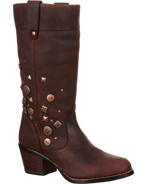 Durango Womens City Philly Turn Down Pull-On Boots