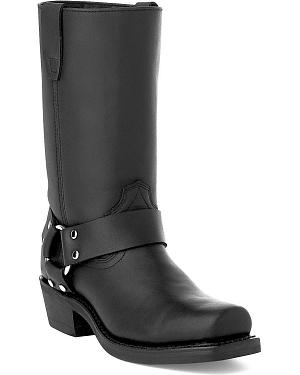 Durango Womens Black Harness Western Boots - Square Toe
