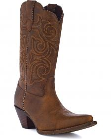 Durango Crush Scall-Upped Western Boots - Snip Toe