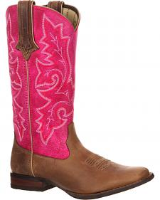 Durango Women's Crush Hot Pink Cowgirl Boots - Square Toe