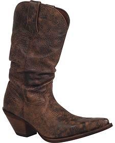 Durango Women's Crush Drunken Slouch Cowgirl Boots - Snip Toe