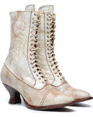 Oak Tree Farms Mary II Victorian Boots $200.00 AT vintagedancer.com