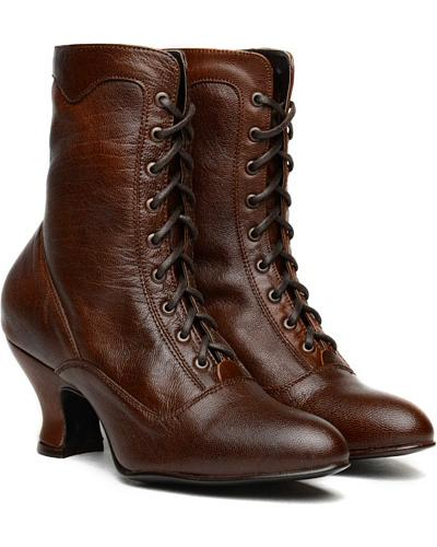 Oak Tree Farms Veil Kidskin Gold Rush Boots $124.99 AT vintagedancer.com