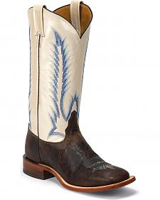 Tony Lama Women's Iron Shiloh San Saba Western Boots - Square Toe