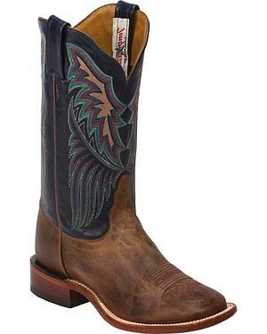 Tony Lama Tan Saigets San Saba Cowgirl Boots - Square Toe