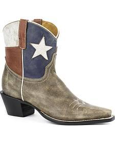 Roper Texas Short Cowgirl Boots - Snip Toe