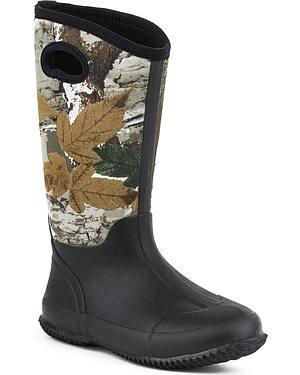 Womens Roper Barnyard Camo Neoprene Boots