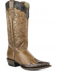 Roper Women's Faux Sea Turtle Wingtip Cowgirl Boots - Snip Toe
