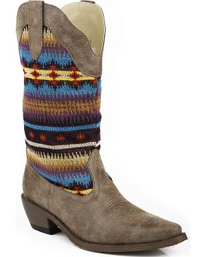 Roper Tessa Sweater Vintage Cowgirl Boots - Snip Toe