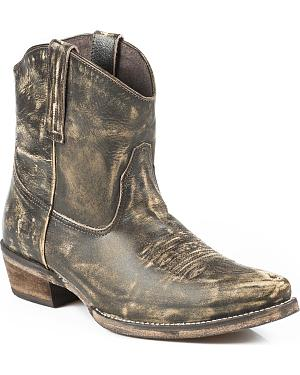 Roper Dusty Distressed Short Cowgirl Boots - Snip Toe