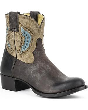 Stetson Betsy Short Cowgirl Boots - Round Toe