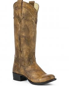 "Stetson Jane 15"" Cowgirl Boots - Round Toe"