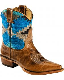 Stetson Morning Star Serape Short Cowgirl Boots - Snip Toe