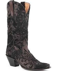Stetson Kael Metallic Cowgirl Boots - Snip Toe