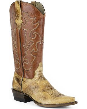 Stetson Womens Rosa Cowgirl Boots - Snip Toe