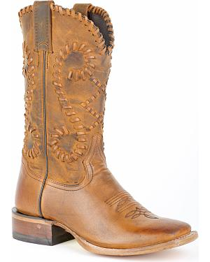 Stetson Saffron Whipstitched Cowgirl Boots - Square Toe
