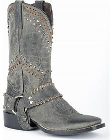 Stetson Cheyenne Harness Cowgirl Boots - Square Toe