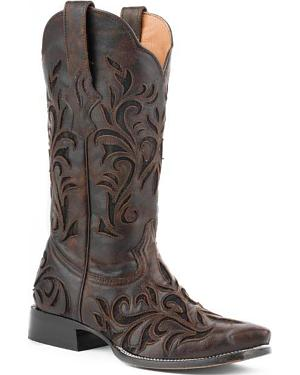 Stetson Filigree Cowgirl Boots - Snip Toe