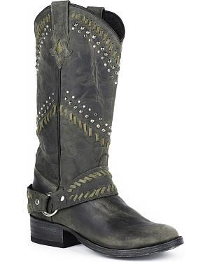Stetson Shiloh Cowgirl Boots - Round Toe