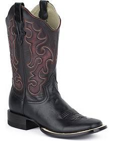Stetson Women's Ebony Cowgirl Boots - Square Toe