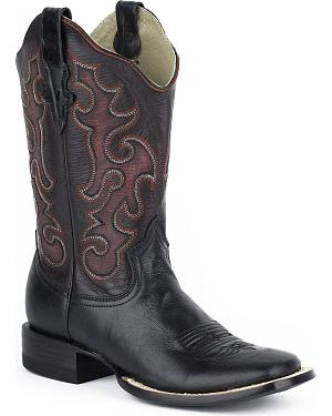 Stetson Womens Ebony Cowgirl Boots - Square Toe
