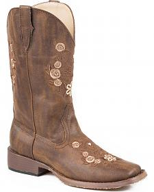 Roper Mandy Embroidered Cowgirl Boots - Square Toe
