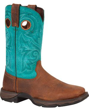 Durango Womens Lady Rebel Bar None Western Boots - Square Toe