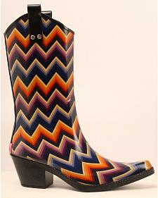 Blazin Roxx Kale Chevron Rain Boots - Snip Toe
