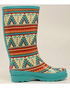 Blazin Roxx Dakota Southwestern Rain Boots - Round Toe