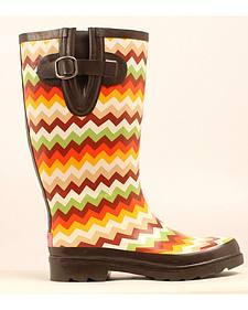 Blazin Roxx Leanne Chevron Rain Boots - Round Toe
