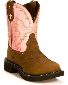 Justin Pink Gypsy Boots